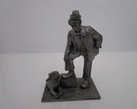 PEWTER CLOWN FIGURINE