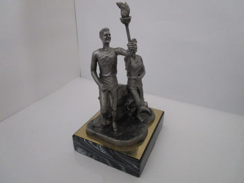 PEWTER OLYMPIC TORCH FIGURINE