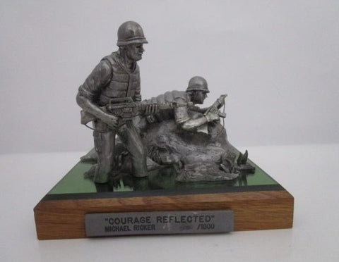 "PEWTER ""COURAGE REFLECTED"" BY MICHAEL RICKER"