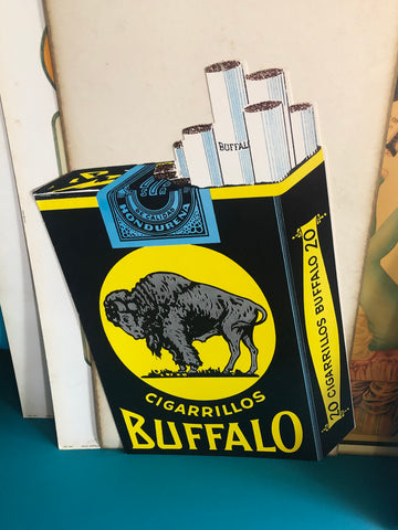 KK - Vintage Cigarrillos Buffalo Sign