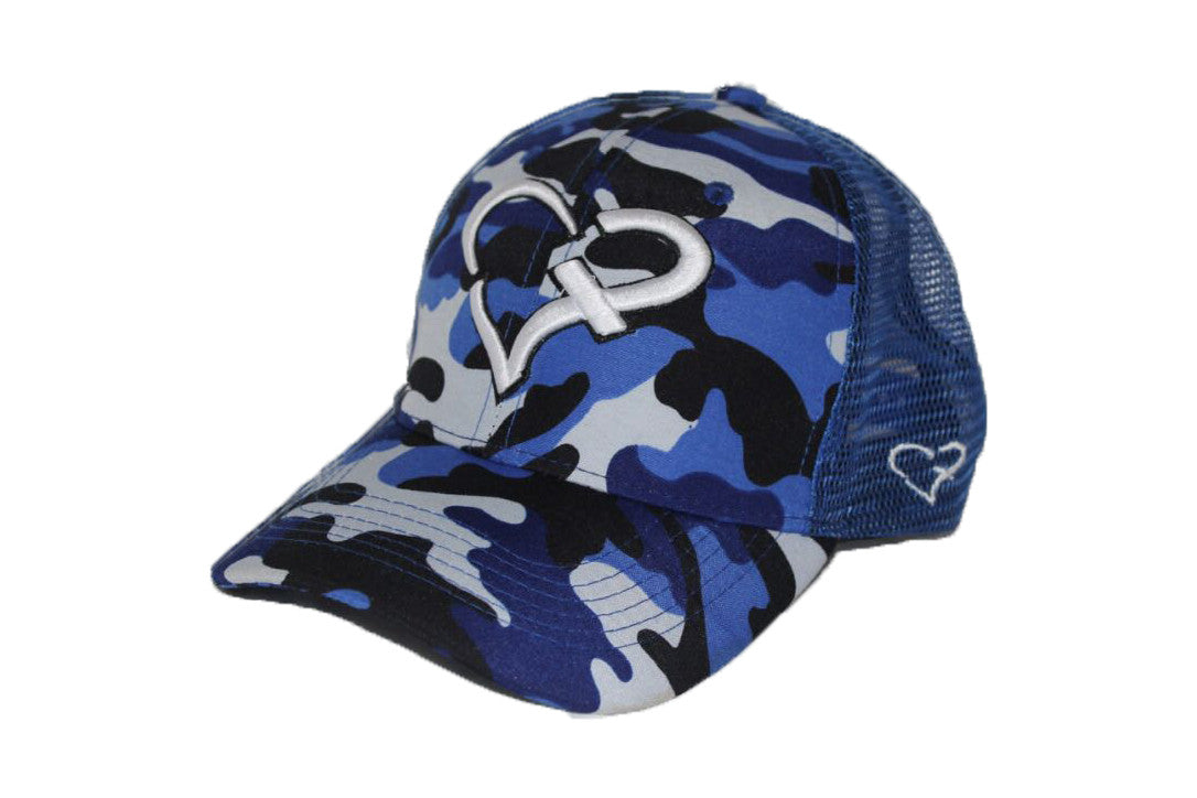 Cash Earner Blue Camouflage Trucker Cap