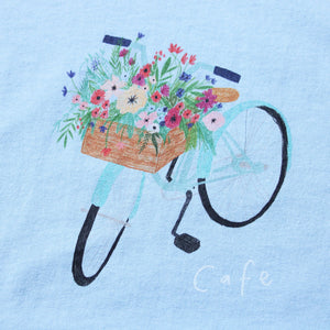 Flower Basket Tee Powder Blue