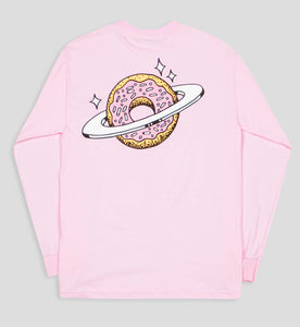 Planet Donut Longsleeve Tee in Pink