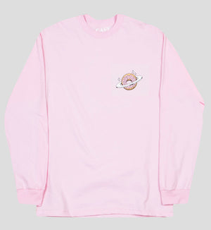 Planet Donut Longsleeve T-Shirt in Pink