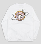 Planet Donut Longsleeve in White