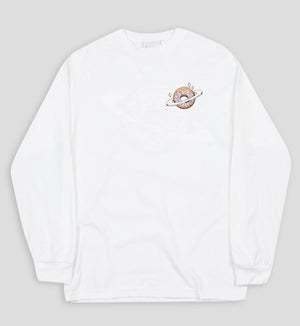 Planet Donut Longsleeve Tee in White