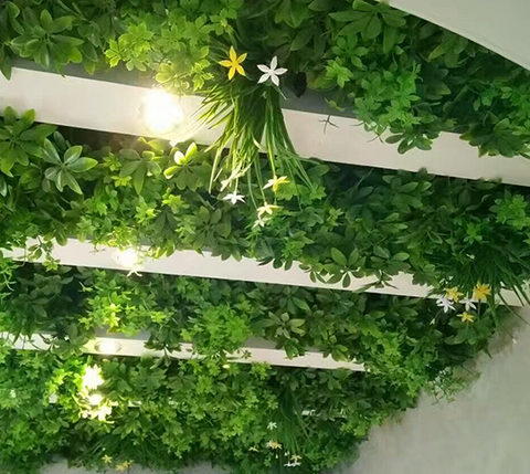artificial green wall, therapeutic garden sanctuary