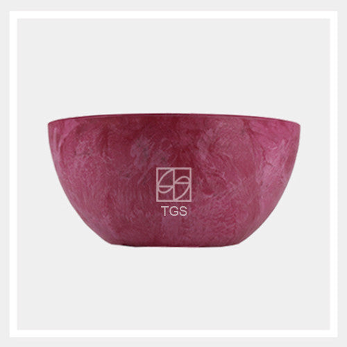 bowl 25cm x 12cm pink - Therapeutic Garden Sanctuary