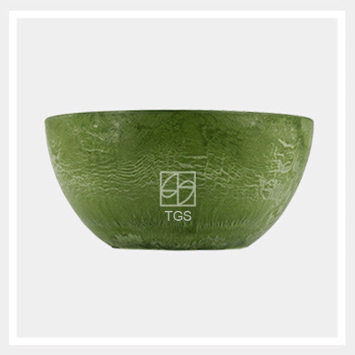 bowl 25cm x 12cm sage - Therapeutic Garden Sanctuary