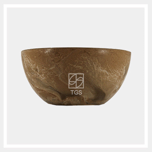 bowl 25cm x 12cm taupe - Therapeutic Garden Sanctuary
