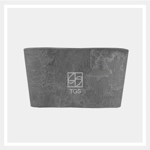 Duo Herbs 26cm x 13cm x 14cm Grey - Therapeutic Garden Sanctuary