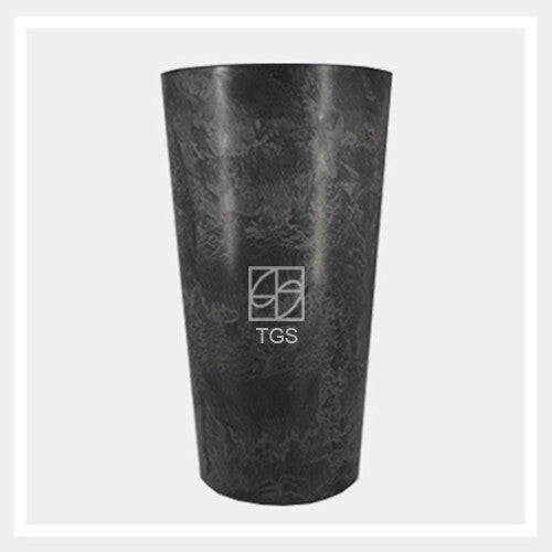 Vase 28cm x 49cm Black - Therapeutic Garden Sanctuary