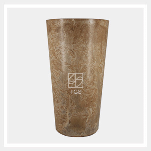 Vase 28cm x 49cm Taupe - Therapeutic Garden Sanctuary