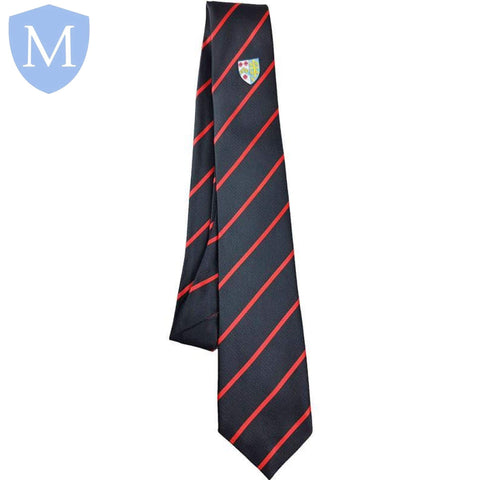 Archbishop Tie Black - Red Stripe Default Title