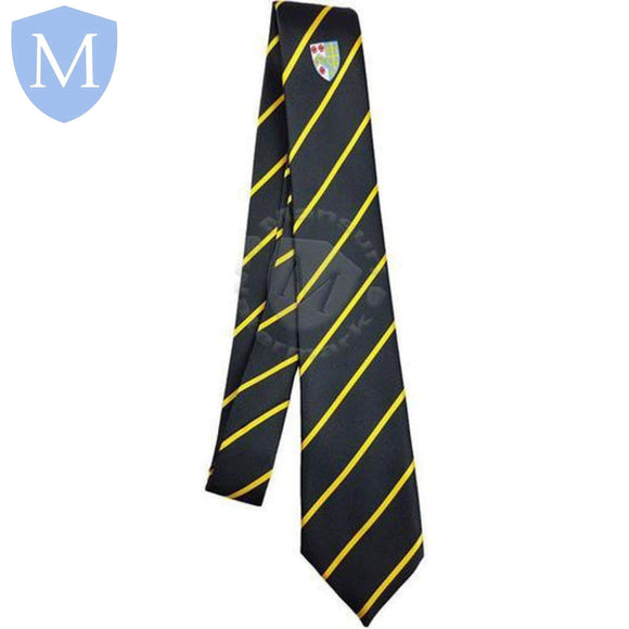 Archbishop Tie Black - Yellow Stripe Default Title