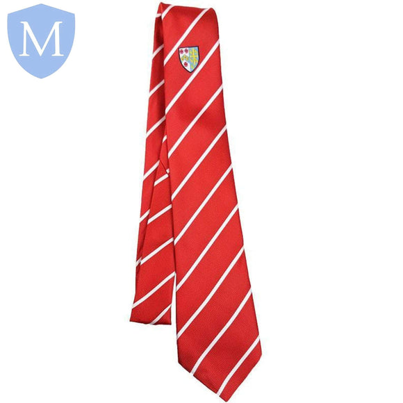 Archbishop Tie Red - White Stripe Default Title