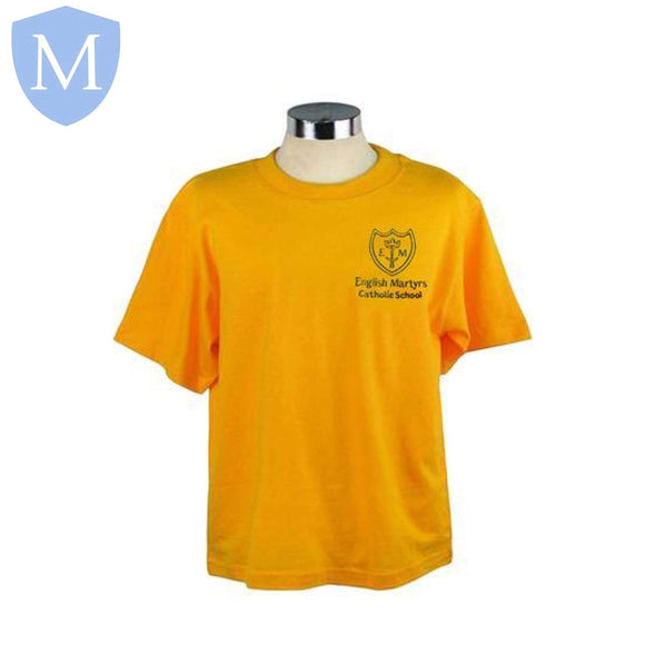 English Martyrs P.E T-Shirts Large,11-12 Years,2-3 Years,3-4 Years,5-6 Years,7-8 Years,9-10 Years,Medium,Small,X-L