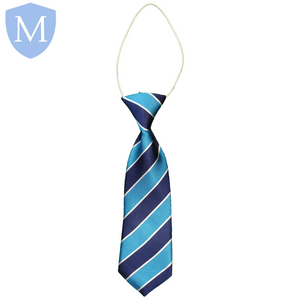 Gossey Lane Elasticated Tie - Warwick-Blue Default Title