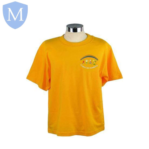 Gossey Lane P.E T-Shirt - Yellow Small,11-13 Years,2 Years,3-4 Years,5-6 Years,7-8 Years,9-10 Years,Large,Medium