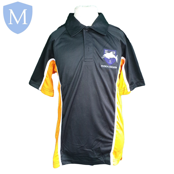 Hall Green Secondary Sports Polo - Orange (Unisex) 30-32 (XS - 12 Years),32-34 (Small - 13 Years),34-36 (Medium - 14 Years),38-40 (large 15-16 Years),42-44 (X-Large),46-48 (XXL),50-52 (XXXL)