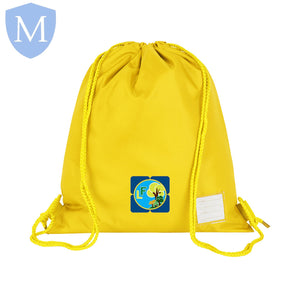 Lea Forest Pe Drawstring Bag Yellow