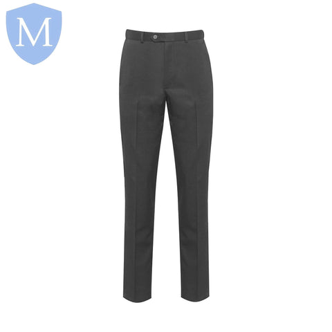Plain Girls Hipster Trousers - Mid Grey