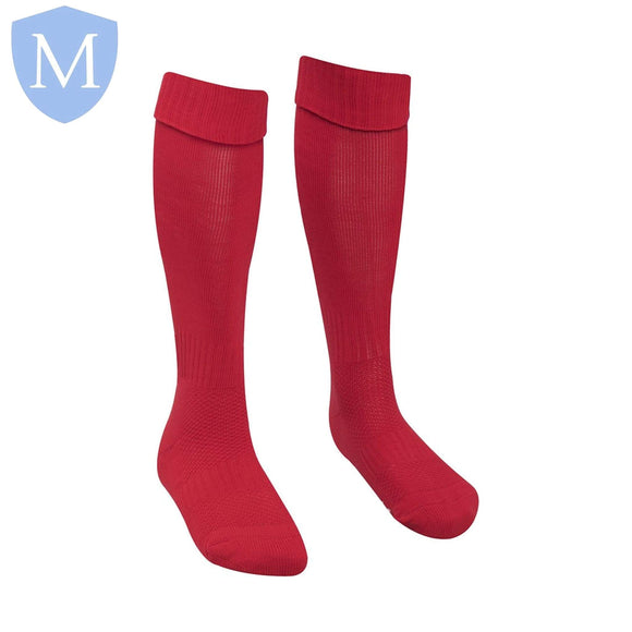 Plain Sports Football Socks - Red Size 12.5-3.5,Size 4-7,Size 6-11
