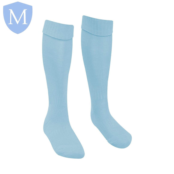 Plain Sports Football Socks - Sky Blue Size 12.5-3.5,Size 4-7,Size 6-11