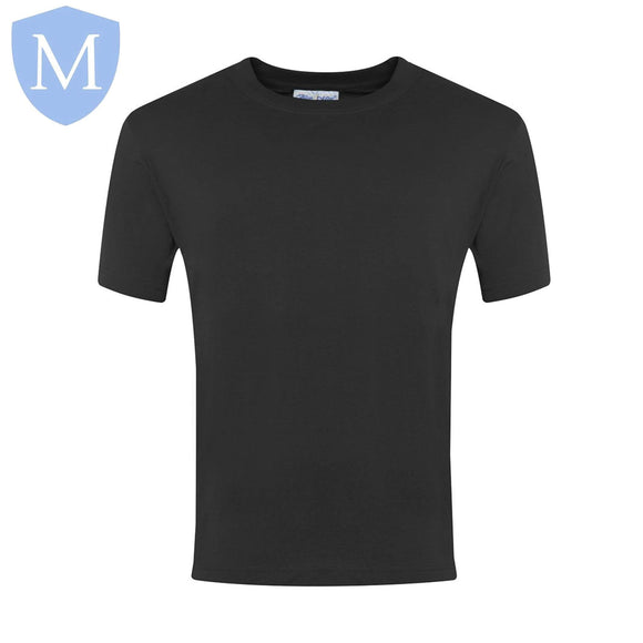 Plain Sports Round Neck T-Shirts - Black Size 11-13,Size 2-3,Size 2XL,Size 3-4,Size 3XL,Size 5-6,Size 7-8,Size 9-10,Size Large,Size Medium,Size Small,Size XL