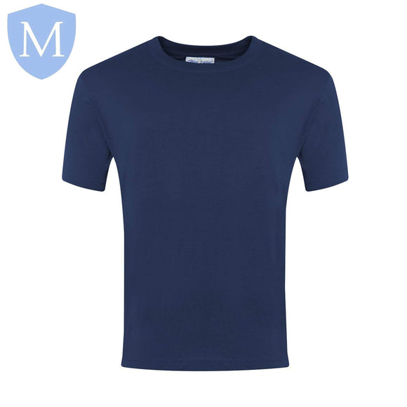 Plain Sports Round Neck T-Shirts - Navy Size 11-13,Size 2-3,Size 2XL,Size 3-4,Size 3XL,Size 5-6,Size 7-8,Size 9-10,Size Large,Size Medium,Size Small,Size XL