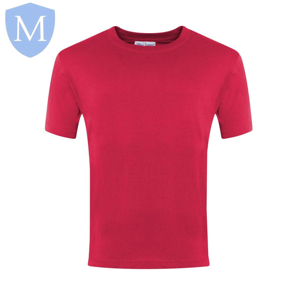 Plain Sports Round Neck T-Shirts - Red Size 11-13,Size 2-3,Size 2XL,Size 3-4,Size 3XL,Size 5-6,Size 7-8,Size 9-10,Size Large,Size Medium,Size Small,Size XL
