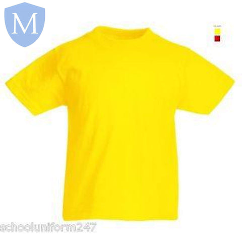 Plain Sports Round Neck T-Shirts - Yellow Size 11-13,Size 2-3,Size 2XL,Size 3-4,Size 3XL,Size 5-6,Size 7-8,Size 9-10,Size Large,Size Medium,Size Small,Size XL