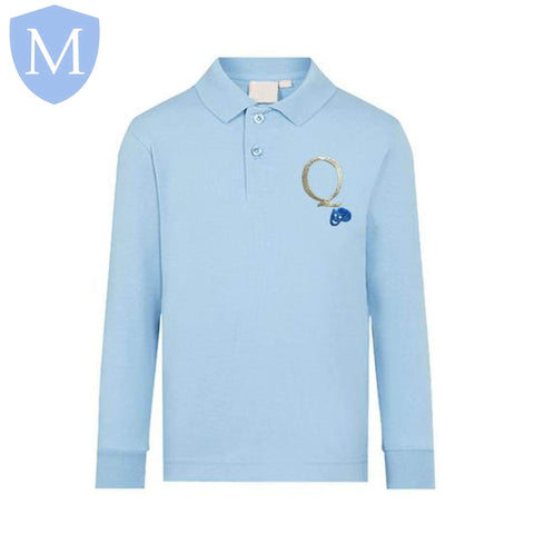 Queensbridge Long Sleeved Polo Shirt 11-12 Years,12-13 Years,2XL,3XL,9-10 Years,Large,Medium,Small,XL