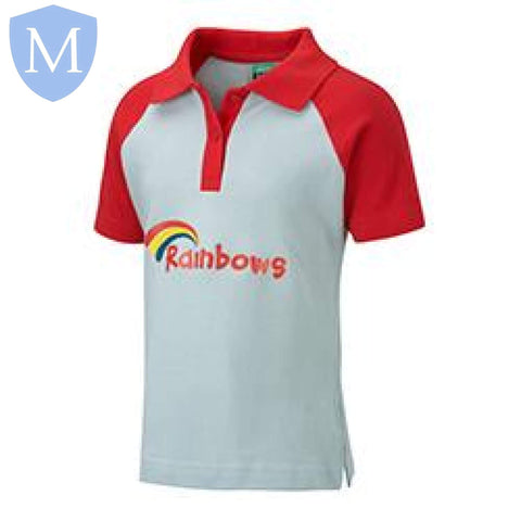 Rainbows Short Sleeved Polo X-Small,Small,Medium,Large,X-Large