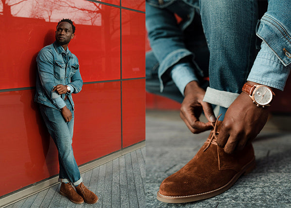 What do you wear with brown chukka boots?