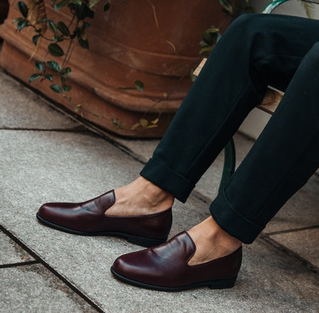 Picture of wine coloured shoes
