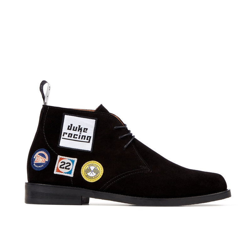 LEWIS Black Racing Patch Chukka Boot