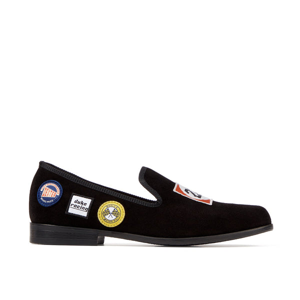 DUKE Black Racing Patch Loafer