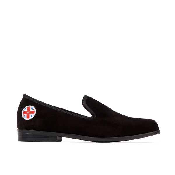 DUKE Black Button Loafer