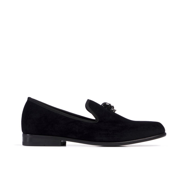 DUKE Skulled Black Loafer