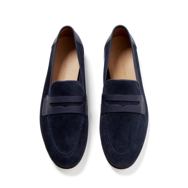 WILDE Navy Penny Loafer