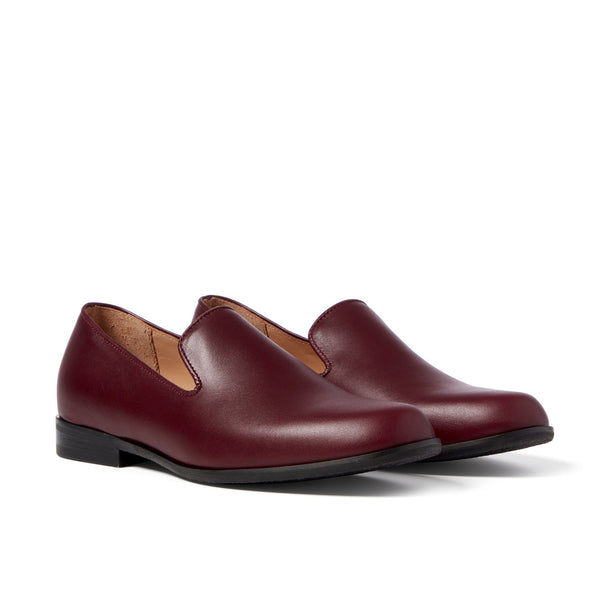 MOORE Wine Leather Loafer