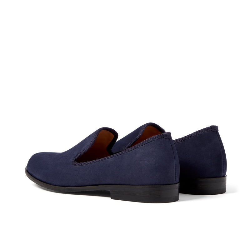 MOORE Navy Nubuck Loafer