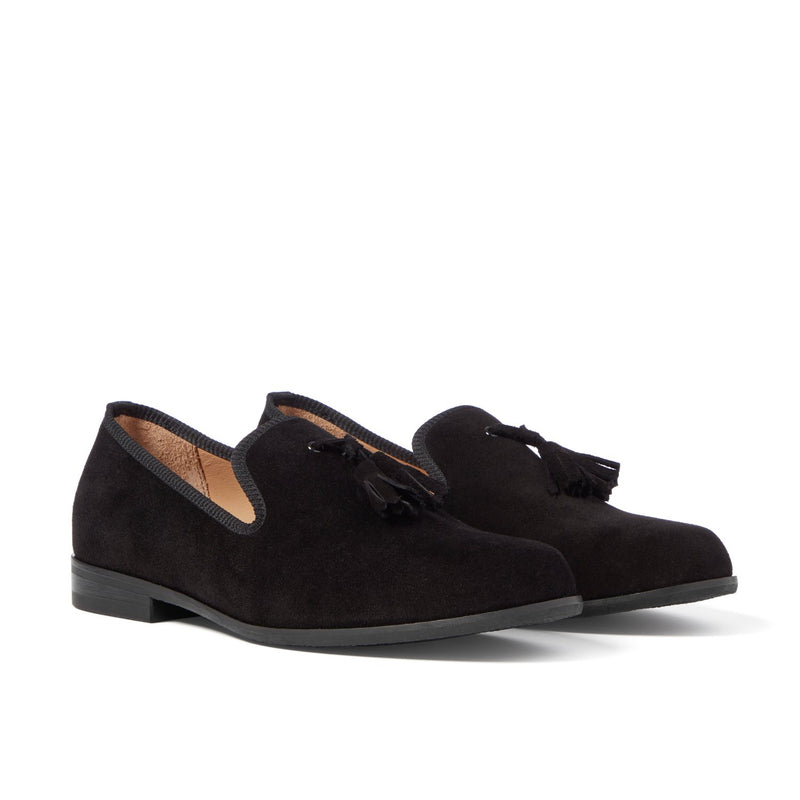 MOORE Black Tassel Loafer