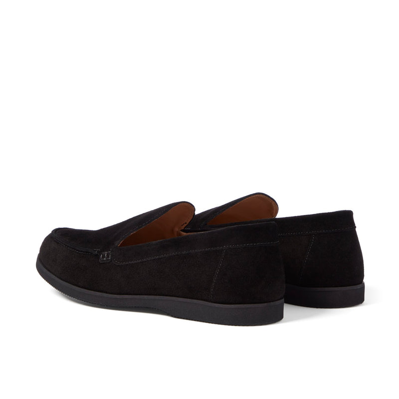 SCOTT Charcoal Suede Loafer