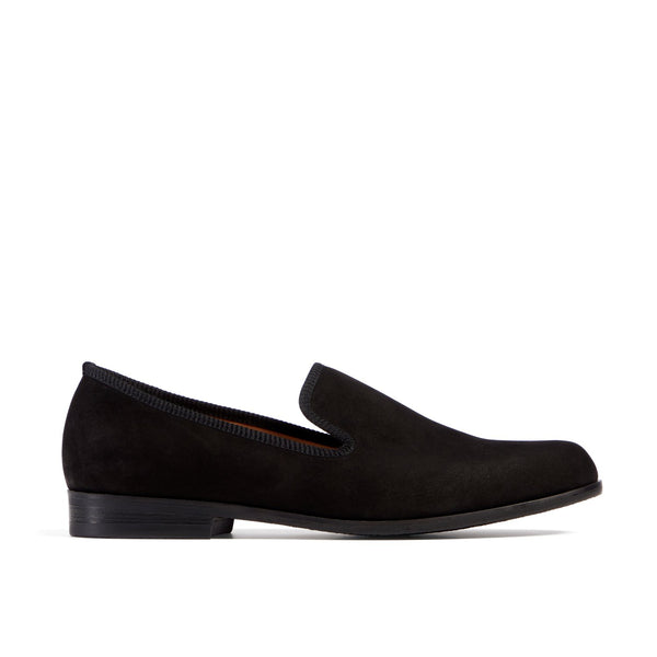 MOORE Black Nubuck Loafer