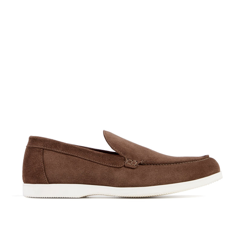 SCOTT Chocolate Suede Loafer