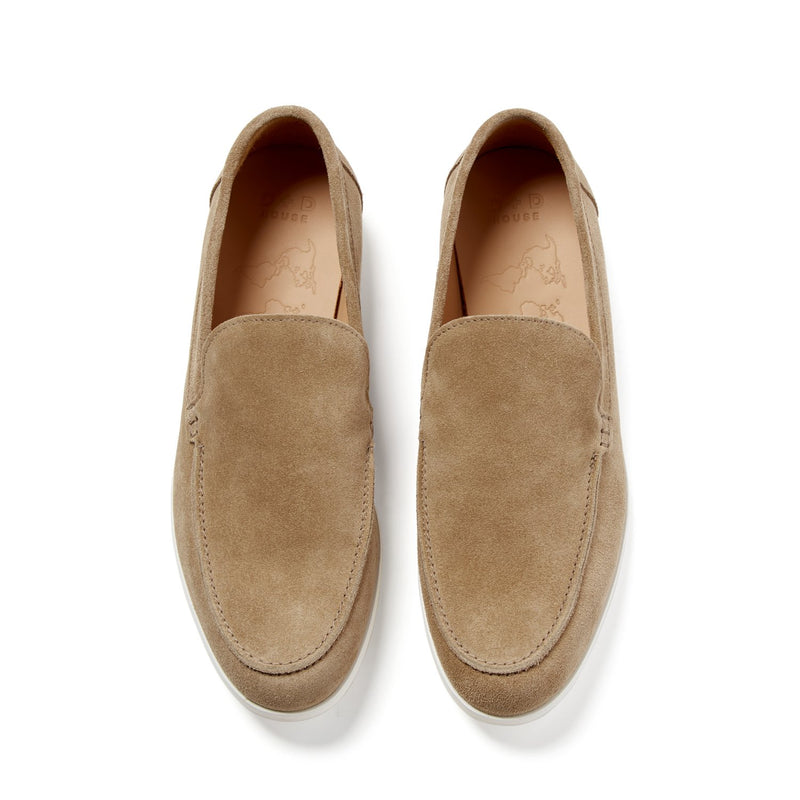 SCOTT Beige Suede Loafer