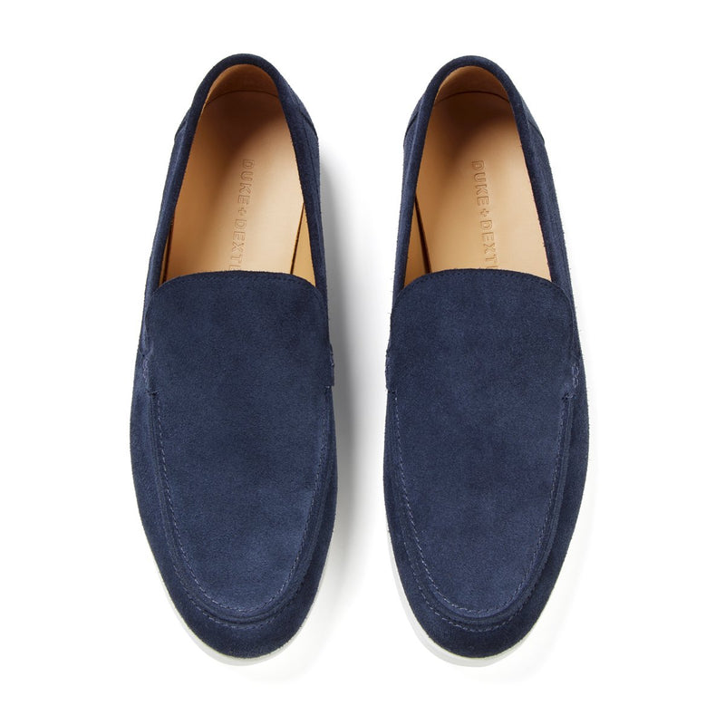 SCOTT Navy Suede Loafer