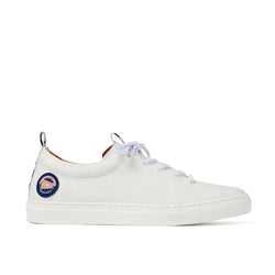 DRAKE White Leather Racing Patch Sneaker